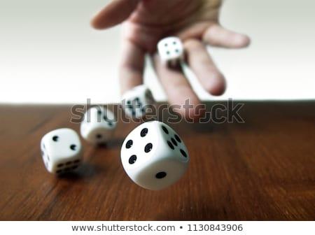 Dés main vert casino ombre mode de vie Photo stock © gemphoto