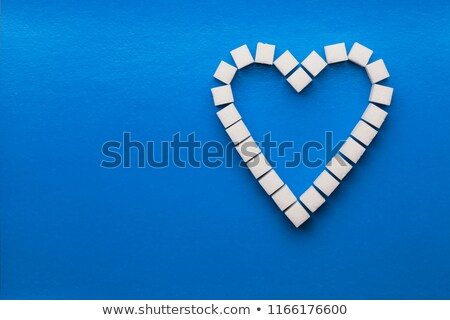 valentine heart from sugar cubes  Stock photo © jonnysek