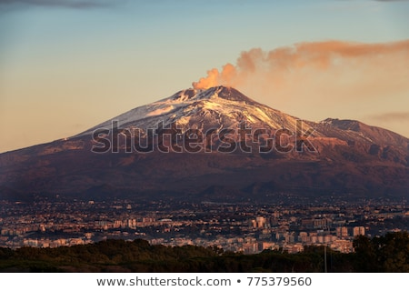 Vulkaan kijken top sicilië Italië landschap Stockfoto © smuki