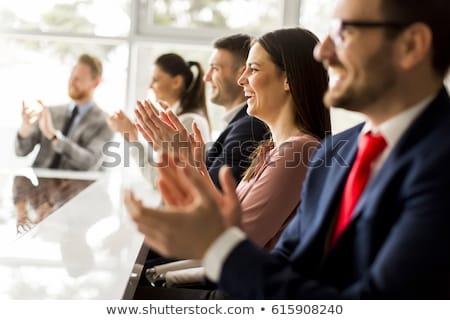 zakenlieden · vergadering · groep · gelukkig · business - stockfoto © wavebreak_media