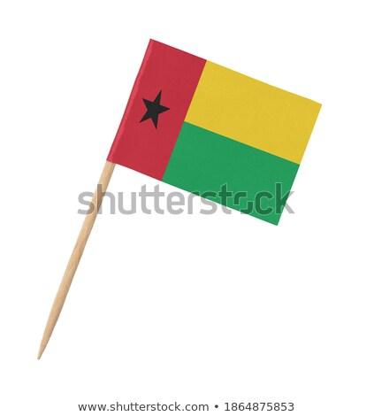miniatura · bandeira · Guiné · isolado · vermelho - foto stock © bosphorus