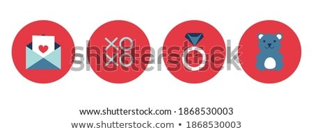 Set valentine's day buttons, vector signs Stock photo © Ecelop