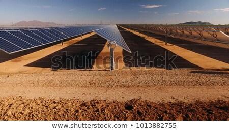 energia · solar · deserto · planta · solar · energia · eletricidade - foto stock © hofmeester