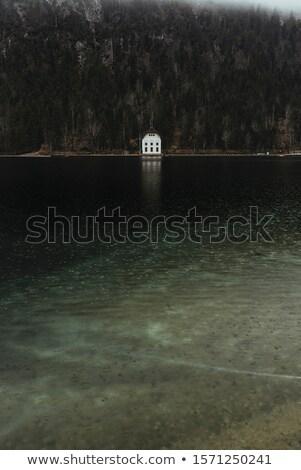 Plansee lake in Austria. Raining landscape Stock photo © Pilgrimego