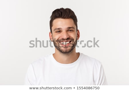 young adult attractive businessman smiling portrait isolated Stock photo © juniart