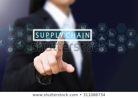 businesswoman with chain isolated on the white stock photo © elnur