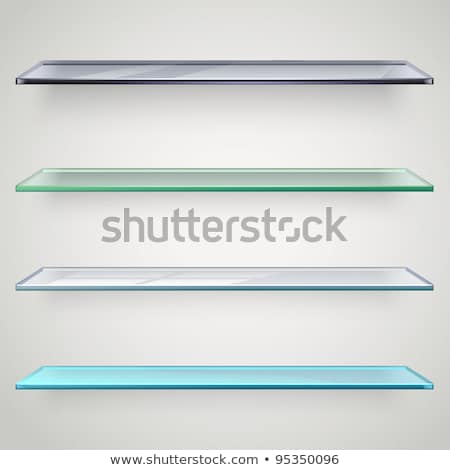books on glass shelf stock photo © smuki