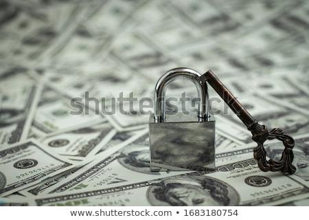 Oude metaal sleutel USA dollar bankbiljetten Stockfoto © nessokv
