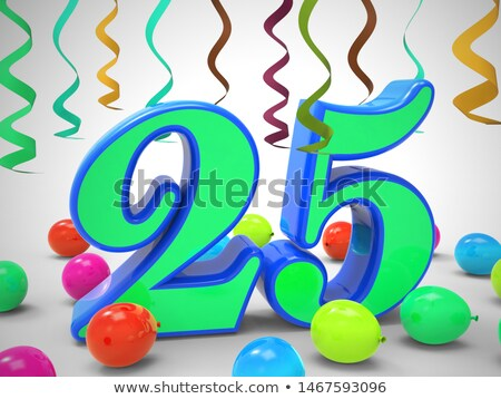 Balloon Shows Twenty-fifth Happy Birthday Celebration Stock photo © stuartmiles