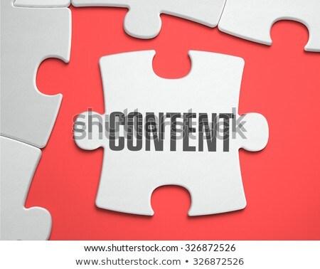 Blog puzzle lieu manquant pièces texte Photo stock © tashatuvango