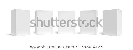 Karton csomag doboz valósághű fehér árnyékok Stock fotó © pozitivo