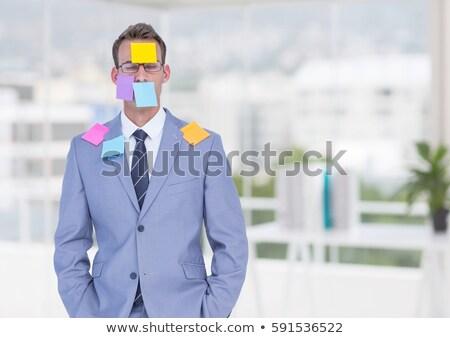 Biznesmen po to twarz biały ręce garnitur Zdjęcia stock © wavebreak_media