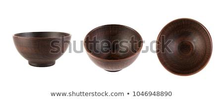 brown ceramic saucer Stock photo © PetrMalyshev