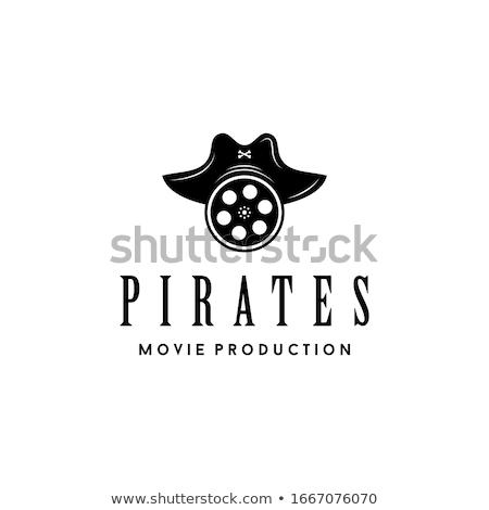 Foto stock: Vetor · pirata · filme · isolado · branco · mar