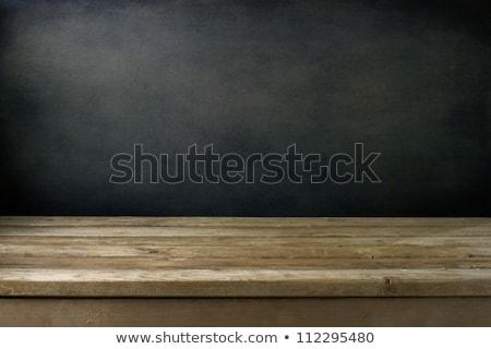 Idee houten tafel woord business kantoor klok Stockfoto © fuzzbones0