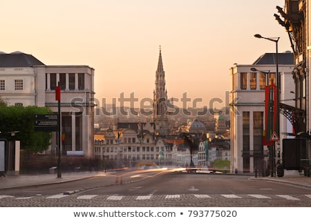 cobbled streets of Brussels Stock photo © artjazz