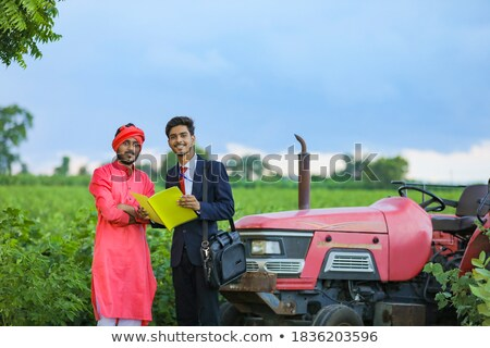 Man standing in field Stock photo © IS2