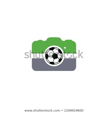 Futball futball kamera fotózás alkalmazás vektor Stock fotó © vector1st