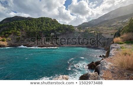hillside Banyalbufar town on west coast of Mallorca. Spain Stock photo © amok
