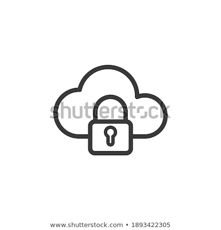 Padlock Symbol Shaped Cloud Stock photo © make