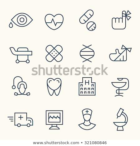 штукатурка медицинской икона вектора медицина Сток-фото © blaskorizov