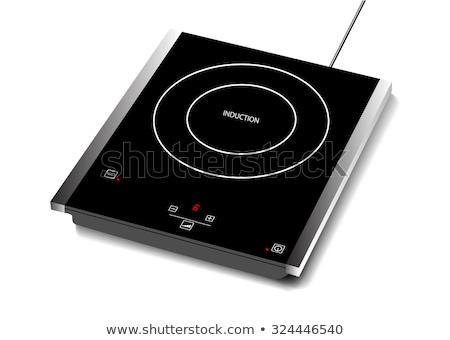 Moderno cozinha superfície novo elétrico fogão Foto stock © artjazz