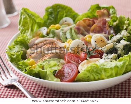 Bowl of Cobb salad Stock photo © Alex9500