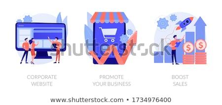Negócio marketing fortalecimento de vendas ilustração 3d Foto stock © olivier_le_moal