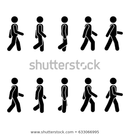 senior · man · lopen · riet · illustratie - stockfoto © olllikeballoon