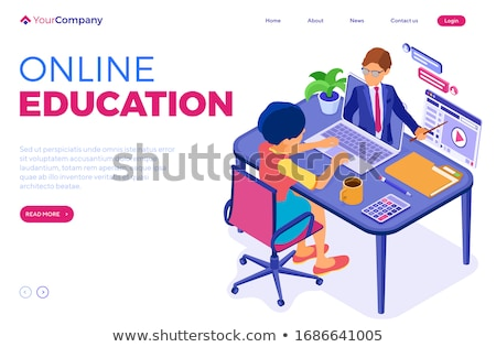 Online Education and Courses with Files Icons Stock photo © robuart