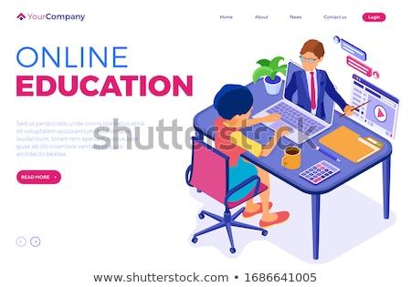 on-line · educação · digital · internet · menu - foto stock © robuart
