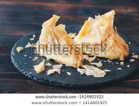 Baked Camembert in phyllo pastry Stock photo © Alex9500