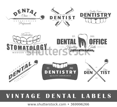 vintage dental emblems stock photo © netkov1