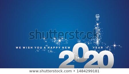 Nieuwjaar vieren banner vector gouden lucht Stockfoto © pikepicture