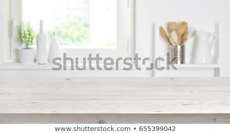 表面 · 木製のテーブル · 花 · 空 · テクスチャ · 木材 - ストックフォト © galitskaya