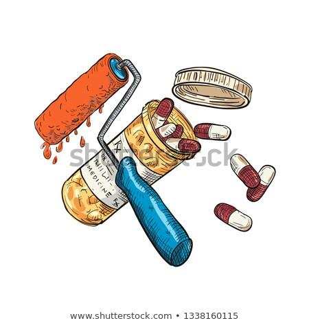 Сток-фото: краской · медицина · капсула · бутылку · рисунок · цвета