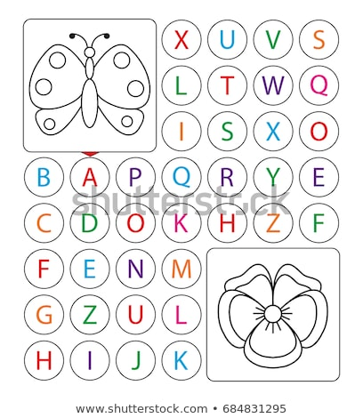 D is for educational task coloring book Stock photo © izakowski