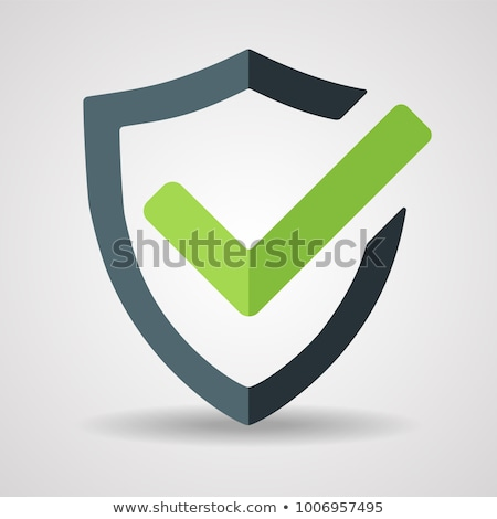 shield guard protection approved mark vector icon stock photo © pikepicture