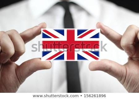 Persoon vlag kaart lippen vorm Stockfoto © ra2studio