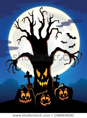 Spooky tree topic image 5 Stock photo © clairev