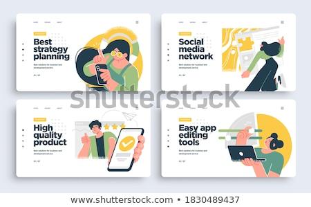 Landing pagina markt statistiek analyse Stockfoto © RAStudio