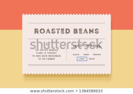 kahve · paketleme · şablon · dizayn · vektör · beyaz - stok fotoğraf © foxysgraphic
