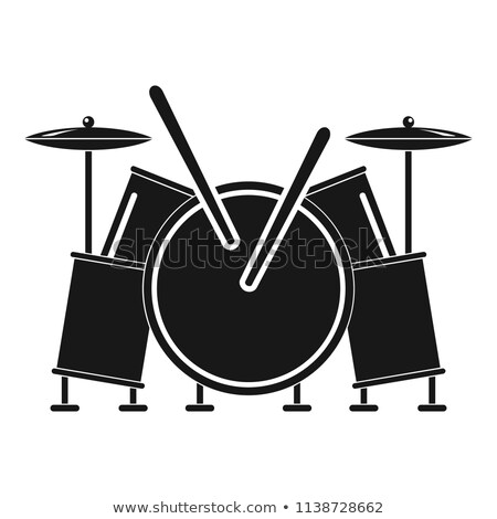 Drum Rhythm Musical Instrument Monochrome Vector Stock photo © pikepicture