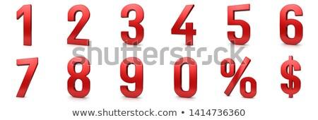 Dziewięć procent biały odizolowany 3d ilustracji ognia Zdjęcia stock © ISerg