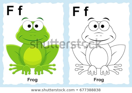 F is for educational task coloring book Stock photo © izakowski