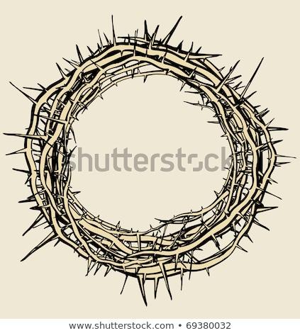 корона религиозных символ Vintage вектора символический Сток-фото © pikepicture