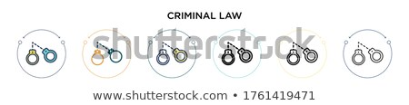 więzienia · prawa · wyrok · ikona · wektora · cienki - zdjęcia stock © pikepicture