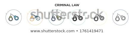 Hapis hukuk ikon vektör ince Stok fotoğraf © pikepicture