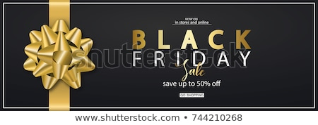 Foto stock: Black Friday Sale Banner In Modern Style