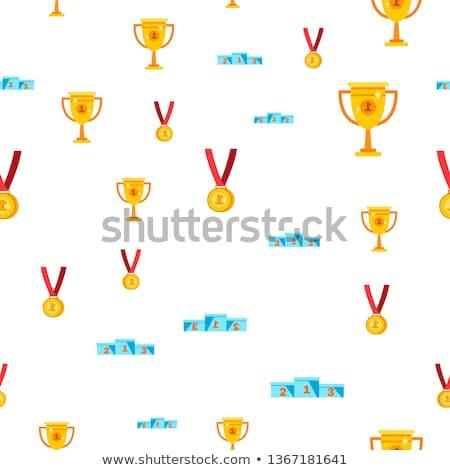 Medaille · Karikatur · Farbe · Illustration · Trophäe · belohnen - stock foto © barsrsind